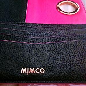 Mimco black & pink wallet